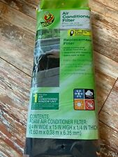 1 Duck Window AC Foam Replacement Filter 24x15x1/4 Washable Reusable Cut to Size