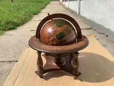 More details for vintage wooden spining globe with astrology signs