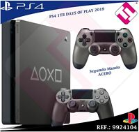 DAYS OF PLAY PS4 1TB 2019 PLAYSTATION 4 EDICION LIMITADA + SEGUNDO MANDO ACERO