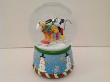 DISNEY Mickey Mouse Pluto Christmas Enesco Music Snow Globe Jingle Bells