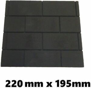 Gas Fire Replacement Back Board/Plate. Black with Brick Pattern. Fire Proof