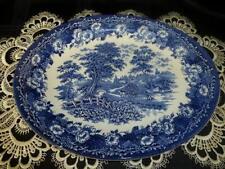 Platters 1960-1979 Blue & White Transfer Ware Pottery