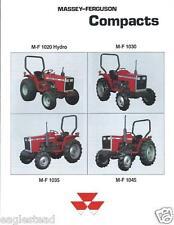 Farm Tractor Brochure - Massey Ferguson - MF 1020 Hydro et al Compact (F3636)