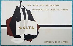 1971 Malta DUN KARM & DE SOLDANIS - Presentation folder + SHC