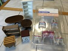 Dollhouse Miniatures-1:12 Scale-Mixed Lot Furniture-11 Pieces