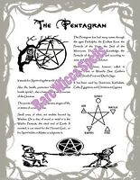 Pentagram Pentacle Real Wicca Book of Shadows Pages Pagan Witchcraft 1 Parch pg