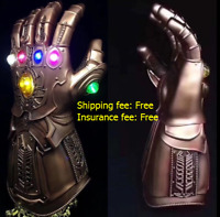 US  Avengers Thanos Infinity Gauntlet LED Light Gloves Cosplay Infinity War