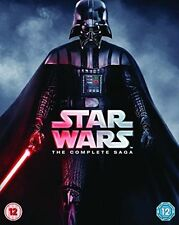 Star Wars The Complete Saga 9 Disk Blu Ray 2015 UK Region 2