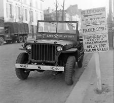 WW2 WWII Photo World War Two Chaplains Jeep SHAEF Willys US Army / 3144
