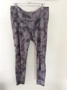 Athleta Gray Tie Dye Style Yoga Pants XL Preowned