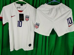 Nike Lloyd Team USA Home Soccer Jersey - Mens Youth White size 24 and shorts New