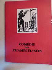 programme theatre comedie champs elysees Ornifle ou le courant d'air