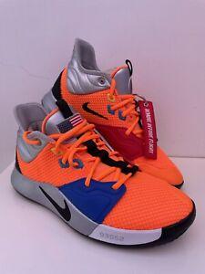 Nike PG3 X NASA Apollo 14 Total Orange UK 7 US 8 CI2666-800 Trainers Sneakers