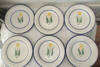 "Dansk Tulip Salad Plate 9 1/4"" Lot of 6"