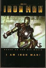 I AM IRON MAN MARVEL SC GN TPB ROBERT DOWNEYJR MOVIE PHOTO COVER PETER DAVID NEW