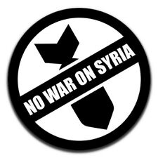 No War On Syria Peace 25mm / 1 Inch D Pin Button Badge