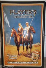 PLAYER'S CIGARETTES- POLO PLAYERS: QUALITY EMBOSSED (3D) METAL ADVERTISING SIGN