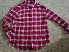 OLD NAVY Pink Plaid Flannel Boyfriend Shirt Girls Size 10-12