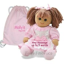 Personalised Rag Doll Christening 1st Birthday Baby Sister Embroidered Gift