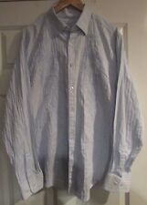 Tommy Bahama Denim Cotton Mens Button Front Long Sleeve Embroidered Shirt XL