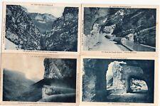 Lot 4 cartes postales anciennes DRÔME route des grands goulets 3