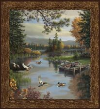 "FABRIC Panel ~ LAKESIDE ~ Whistler Studios Windham Fabrics 36"" X 45"""