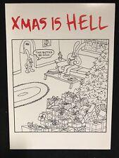 Xmas is Hell MATT GROENING greeting card Simpsons Disenchantment 1988 Christmas
