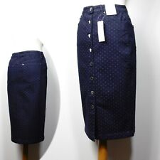 PER UNA Button front MIDI Length DENIM PENCIL SKIRT ~ Size 10 ~ INDIGO  rrp £35