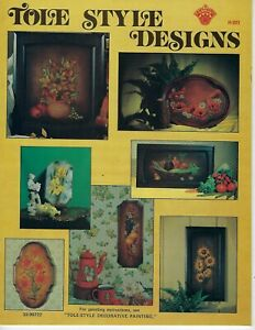Tole Style Designs Decorative Painting Fruits Vegetables Flowers VTG Craft Book