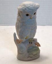 Cybis White Snow Owl Figurine Signed