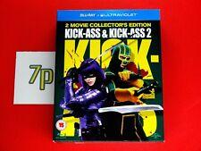 Kick-Ass 1-2 Movie Box Set Collector's Edition (BLU-RAY) ✔️ VGC