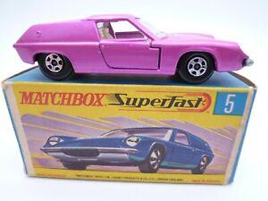 VINTAGE MATCHBOX SUPERFAST No.5e LOTUS EUROPA IN ORIGINAL BOX 1969 NW