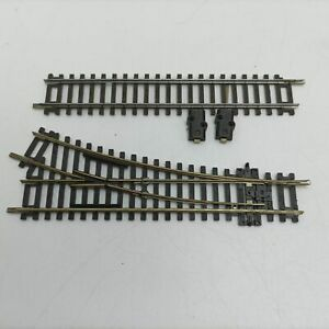 2x Sections Vintage PECO OO Gauge Railway Track [G+] Right Hand Point + Power