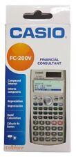 Casio FC 200V FC200V 100V Financial Calculator - 14 Digits, Dual Power, New NIB