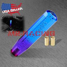 Shift Knob Stick Crystal Transparent Bubble Purple Blue Throw Gear Shifter 20cm