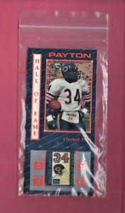 WALTER PAYTON HOF PIN/CARD KEMPER/MUTUAL FUNDS PRODUCT 1994 ORIGINAL WRAPPER