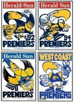 WEST COAST EAGLE 92,94,06,&18 WEG Grand Final Posters FREE Postage in Australia