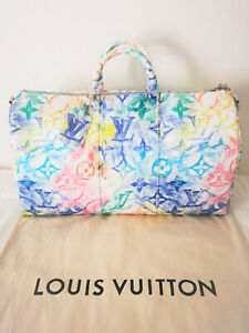 LOUIS VUITTON KEEPALL BANDOULIERE 50 PASTEL SS 2021 LIMITED EDITION SOLD OUT
