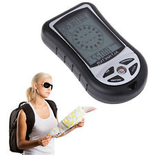Digital 8 in 1 LCD Temperature Barometer Compass Altimeter Thermo Clock Calendar