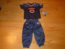24 MO Chicago Bears Football Jersey Shirt Pants Infant Baby Toddler Blue New