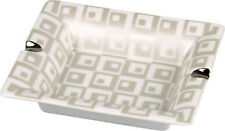 Cenicero de cigarro Cuadradas Porcelana Blanca/Plata 2 Estructuras 185 x 155 mm