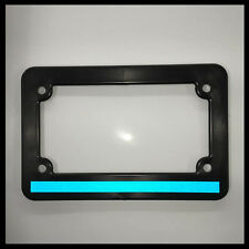 Motorcycle Scooter Blue Line License Plate thin Frame REFLECTIVE police car