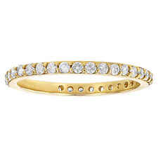 14K Yellow Gold 1/2 carat Diamonds Stackable Eternity Band Ring size 6