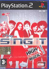 DISNEY SING IT HIGH SCHOOL MUSICAL 3 - PS2 (NUOVO SIGILLATO) ITALIANO