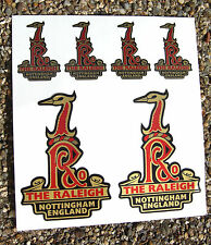 RALEIGH Vintage style Head Cycle Bike GOLD Stickers