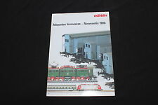 P220 RARE CATALOGUE TRAIN MARKLIN 1986 F 10 pag Etat Nf
