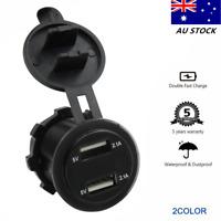 12V-24V 4.2A Dual USB Car Lighter Socket Charger Power Adapter Outlet Voltmeter