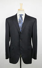 New. BRIONI Chigi Black Striped Super 200's Wool 3/2 Button Suit 54/44 R $8295
