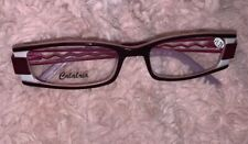 Fun Calabria reading glasses +1.25. Plum/Pink/White Frames W/Pink Metal Sides