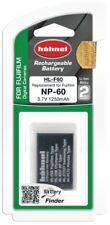 Hähnel HL F60 3,7V 1250 mAh Ersatzakku Typ Fuji NP-60 für Fujifilm Digicams